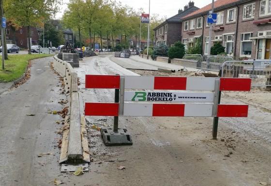 Wegwerkzaamheden Hogelandsingel Enschede