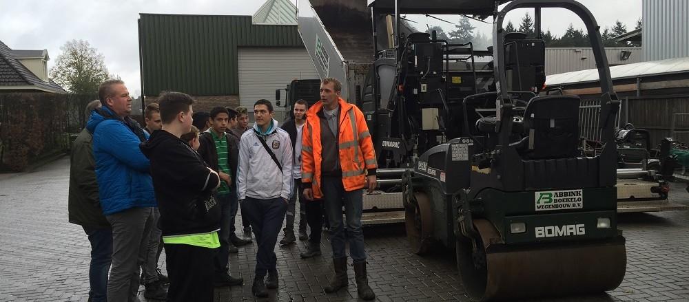 Twente goes Techno - bezoek Abbink Boekelo Wegenbouw