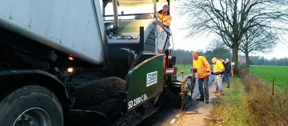 Ecofalt, duurzaam alternatief voor asfalt op Nieuwe Beekweg
